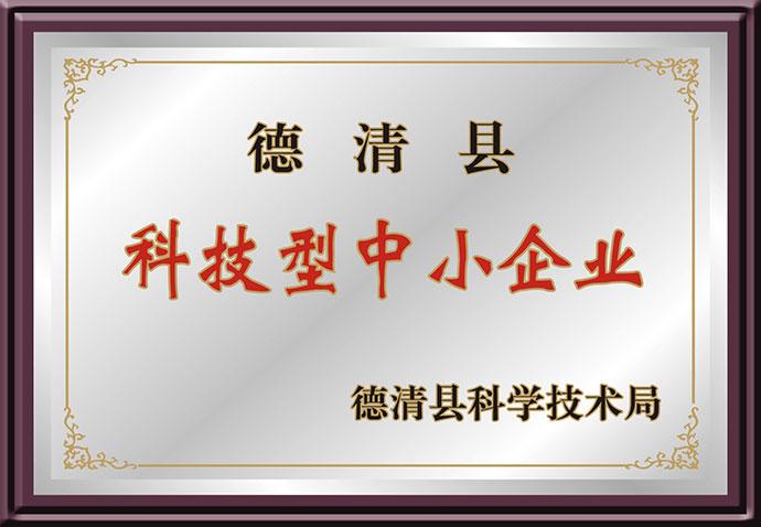 德清县科技型中小企业-奖牌.jpg